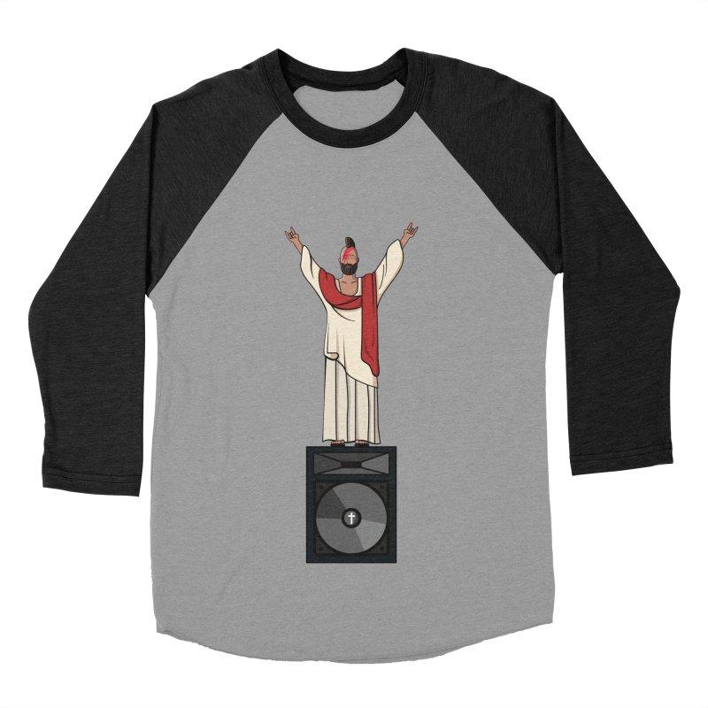 Raving Jeesus Men's Baseball Triblend Longsleeve T-Shirt by Hristo's Shop