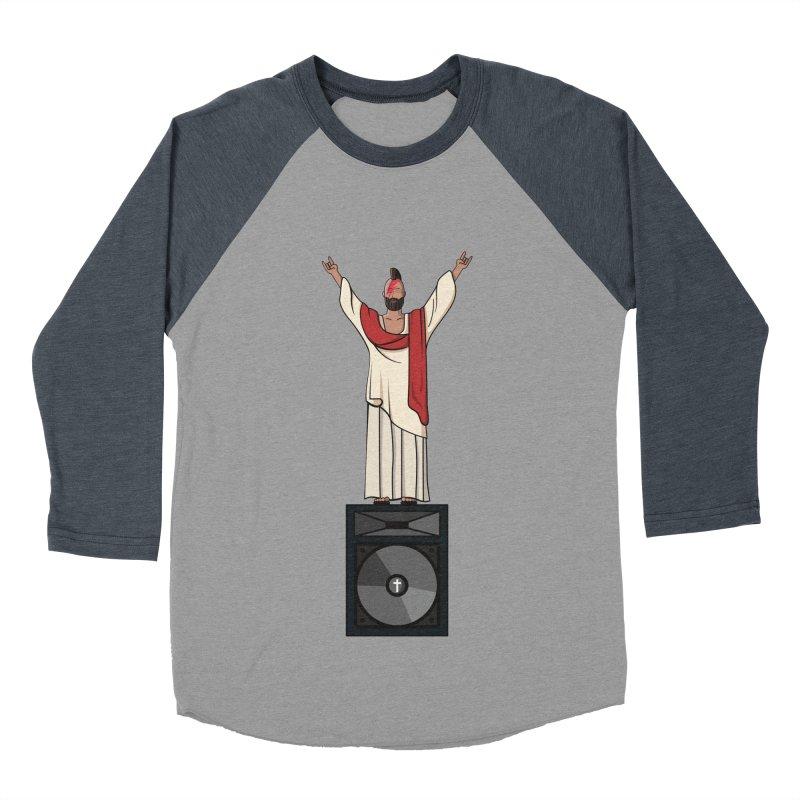 Raving Jeesus Men's Baseball Triblend T-Shirt by Hristo's Shop
