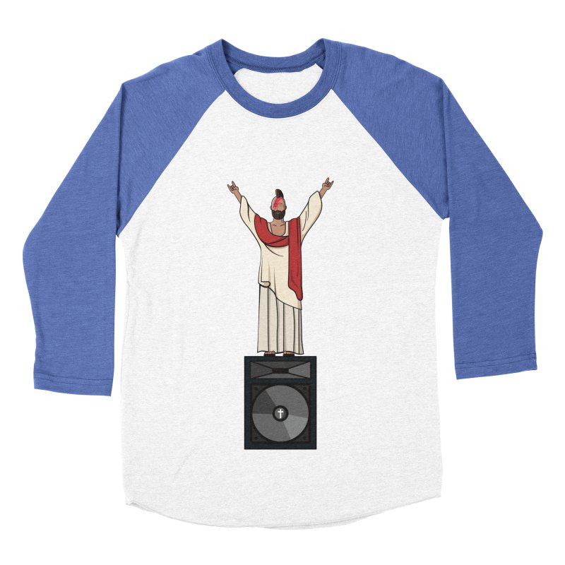 Raving Jeesus Men's Baseball Triblend Longsleeve T-Shirt by Hristo's Shop