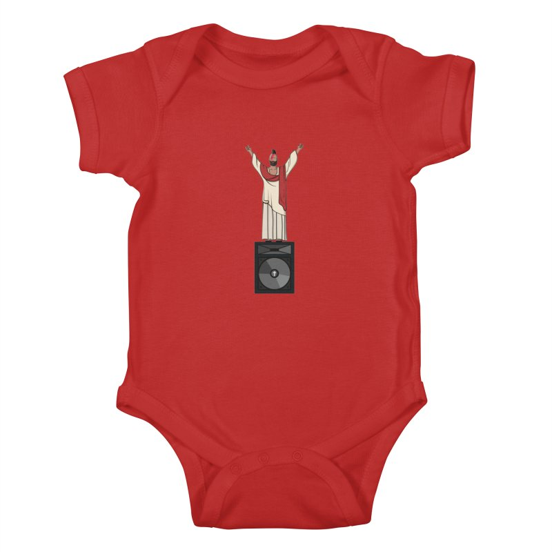 Raving Jeesus Kids Baby Bodysuit by hristodonev's Artist Shop