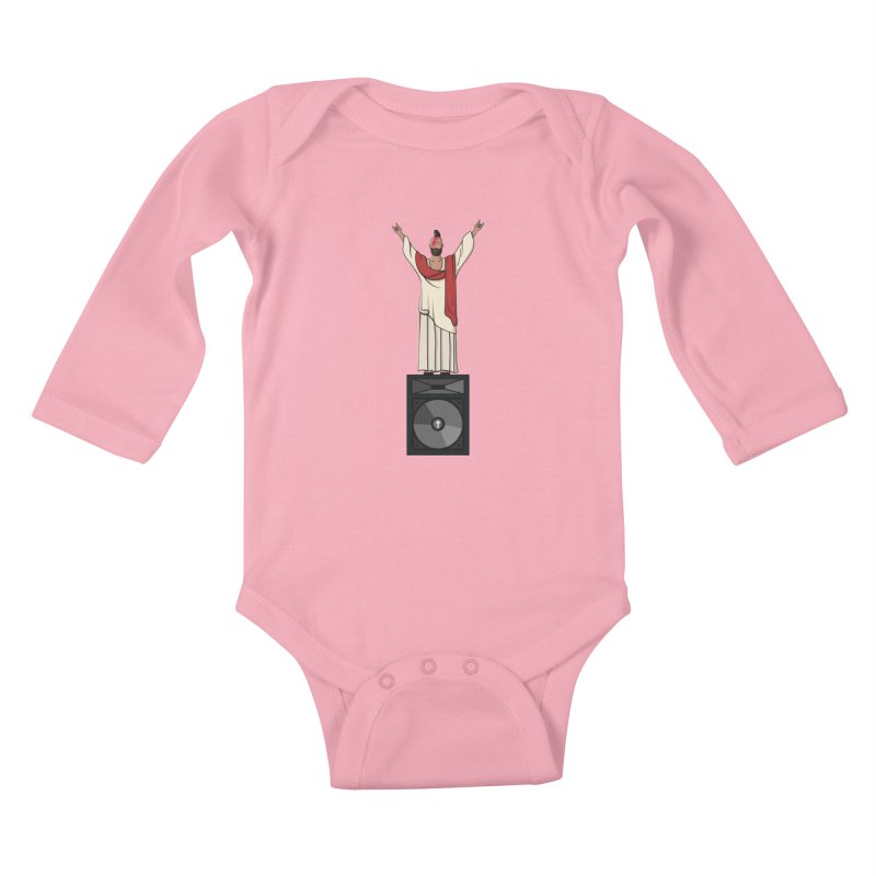 Raving Jeesus Kids Baby Longsleeve Bodysuit by Hristo's Shop