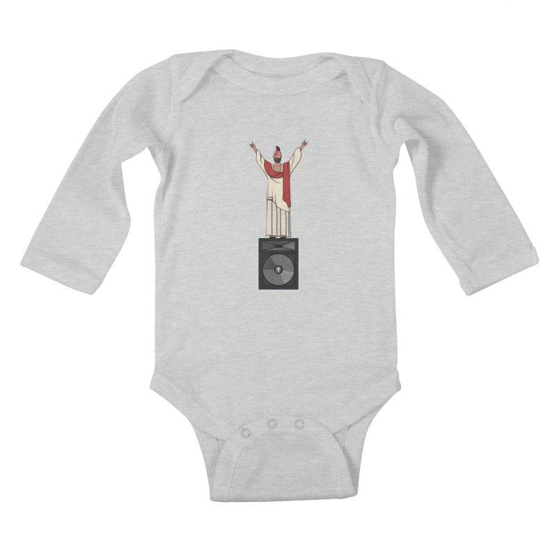 Raving Jeesus Kids Baby Longsleeve Bodysuit by hristodonev's Artist Shop