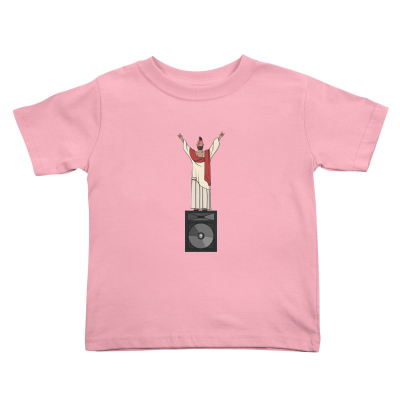 Raving Jeesus Kids Toddler T-Shirt by Hristo's Shop