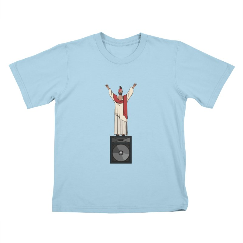 Raving Jeesus Kids T-shirt by hristodonev's Artist Shop
