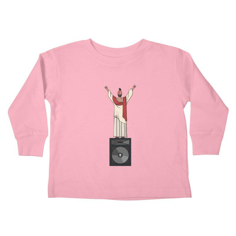 Raving Jeesus Kids Toddler Longsleeve T-Shirt by Hristo's Shop