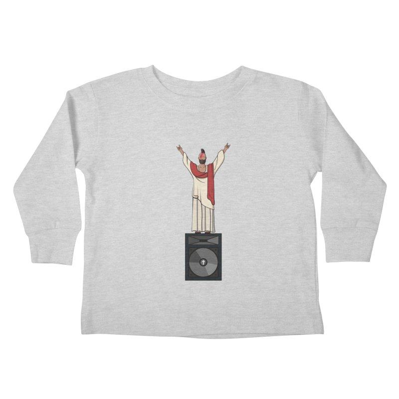 Raving Jeesus Kids Toddler Longsleeve T-Shirt by hristodonev's Artist Shop
