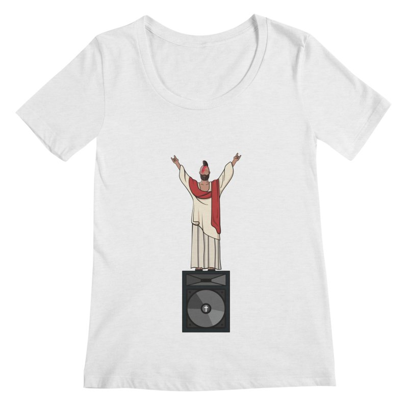 Raving Jeesus Women's Scoopneck by Hristo's Shop