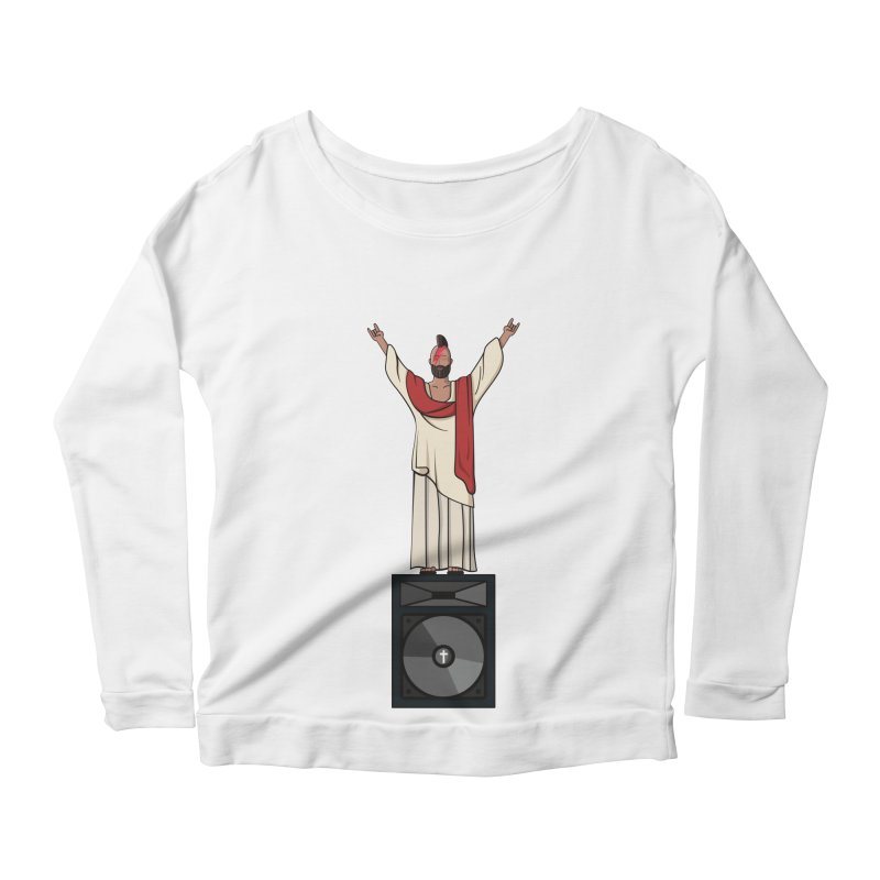 Raving Jeesus Women's Scoop Neck Longsleeve T-Shirt by Hristo's Shop