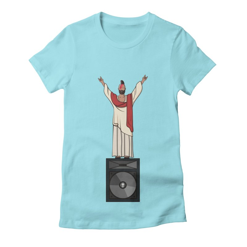 Raving Jeesus Women's Fitted T-Shirt by Hristo's Shop