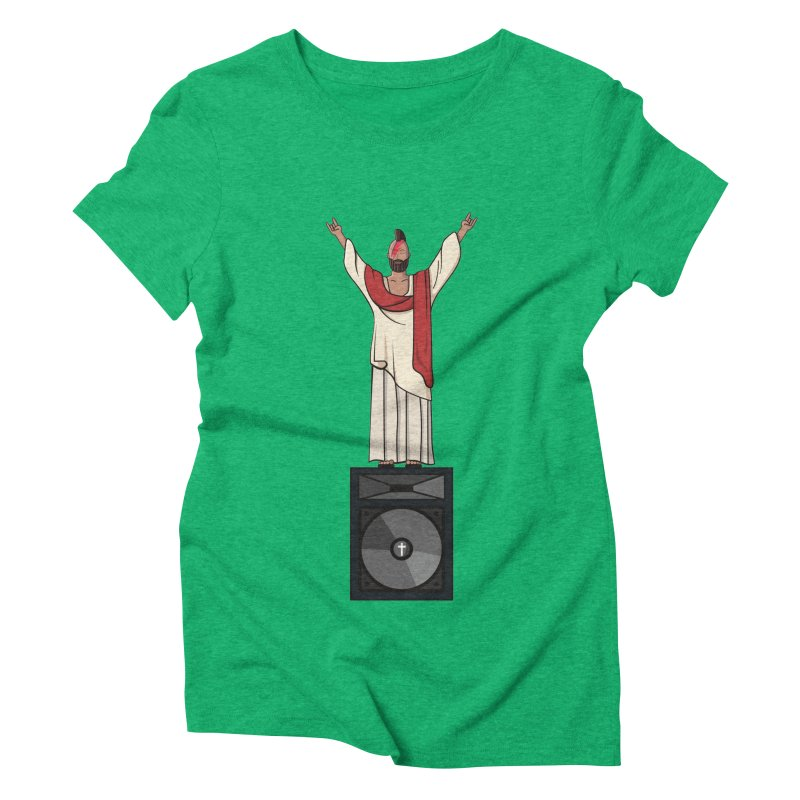 Raving Jeesus Women's Triblend T-Shirt by Hristo's Shop