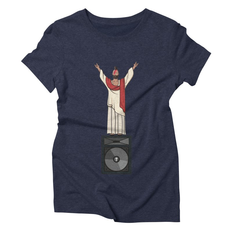 Raving Jeesus Women's Triblend T-Shirt by Hristo's Shop