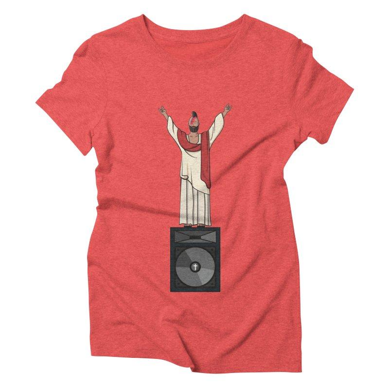 Raving Jeesus Women's Triblend T-shirt by hristodonev's Artist Shop