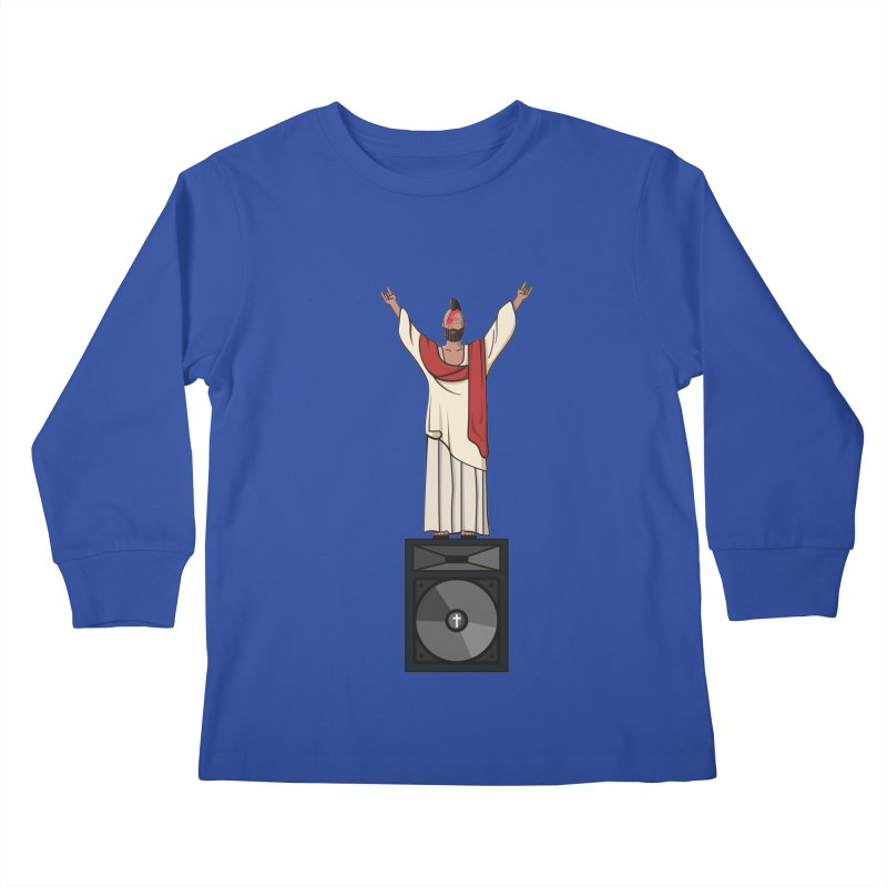 Raving Jeesus Kids Longsleeve T-Shirt by Hristo's Shop
