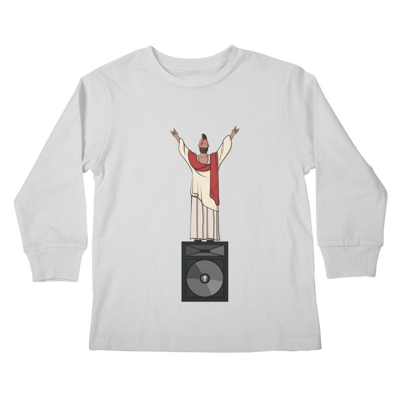 Raving Jeesus Kids Longsleeve T-Shirt by Hristo's Shop