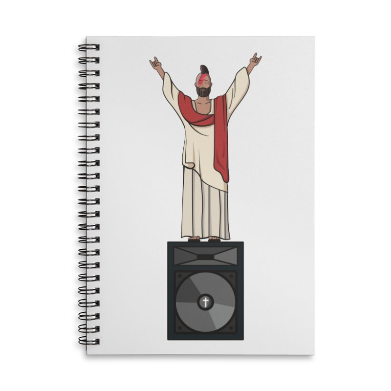 Raving Jeesus Accessories Lined Spiral Notebook by Hristo's Shop