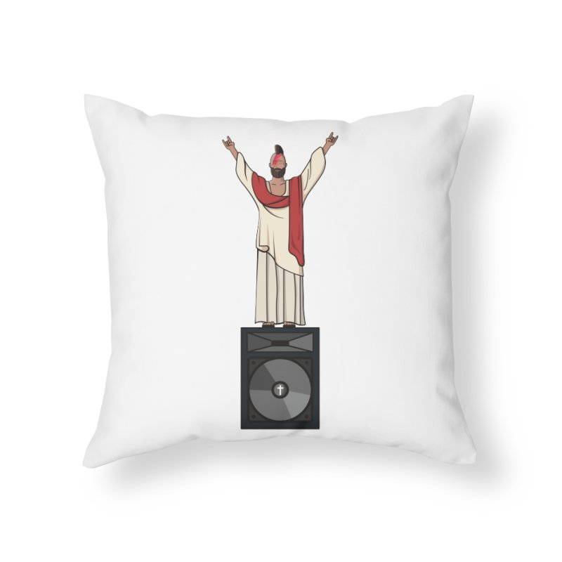 Raving Jeesus Home Throw Pillow by hristodonev's Artist Shop