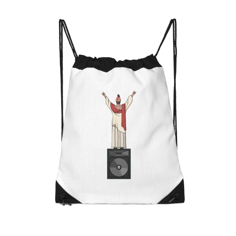 Raving Jeesus Accessories Drawstring Bag Bag by Hristo's Shop