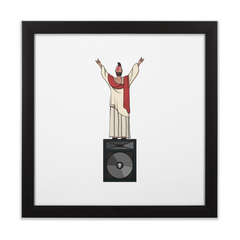 Raving Jeesus Home Framed Fine Art Print by Hristo's Shop
