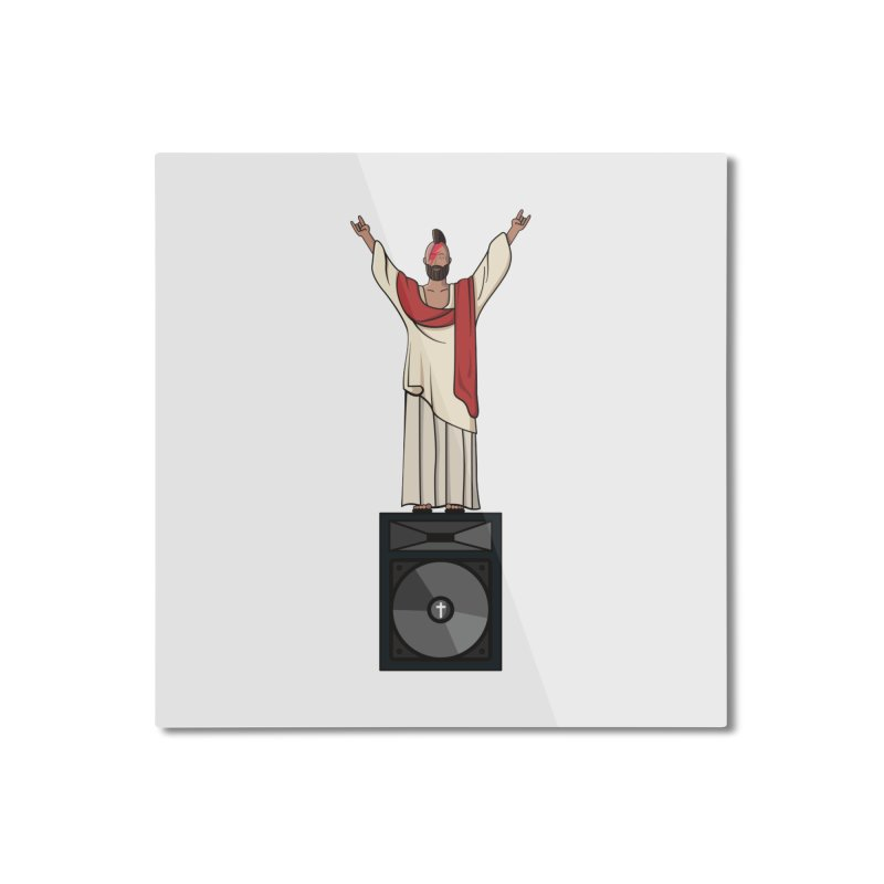 Raving Jeesus Home Mounted Aluminum Print by hristodonev's Artist Shop
