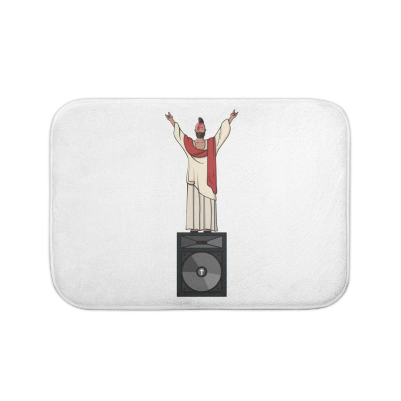 Raving Jeesus Home Bath Mat by hristodonev's Artist Shop