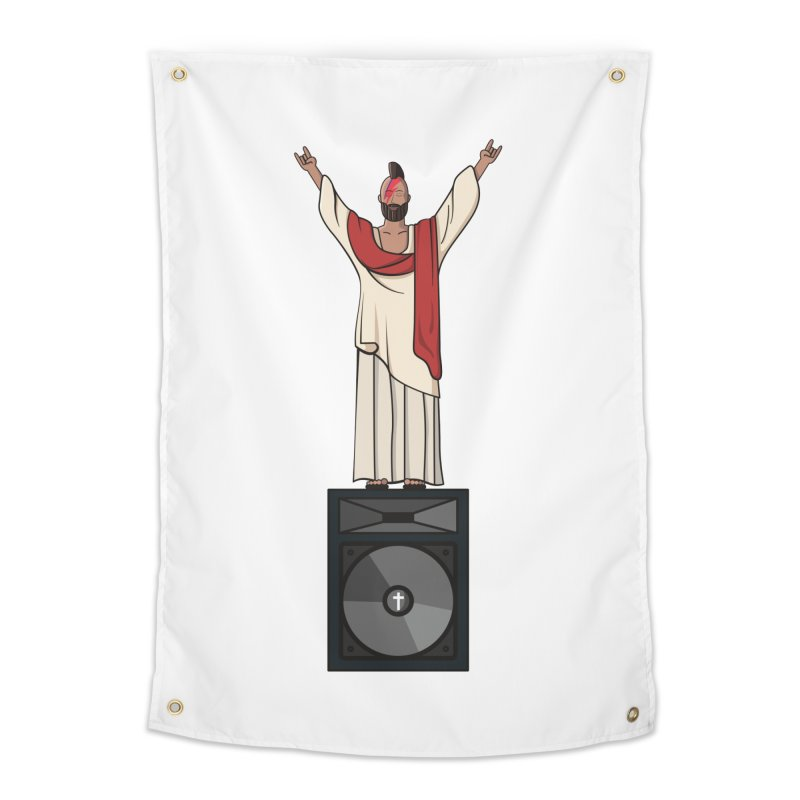 Raving Jeesus Home Tapestry by Hristo's Shop