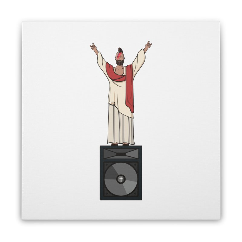 Raving Jeesus Home Stretched Canvas by Hristo's Shop