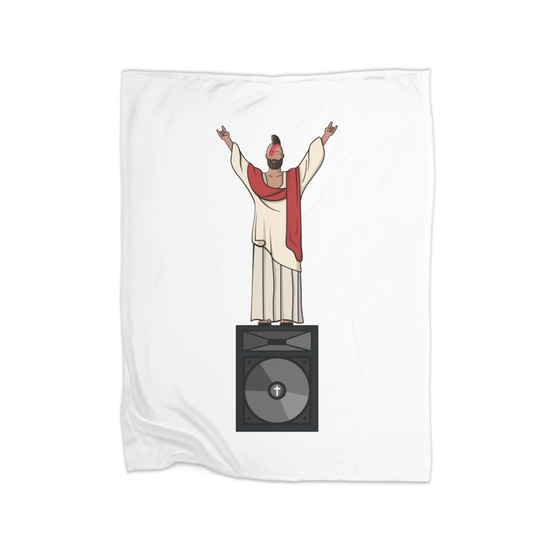 Raving Jeesus Home Blanket by Hristo's Shop