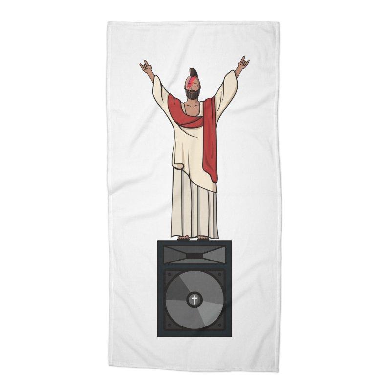 Raving Jeesus Accessories Beach Towel by hristodonev's Artist Shop