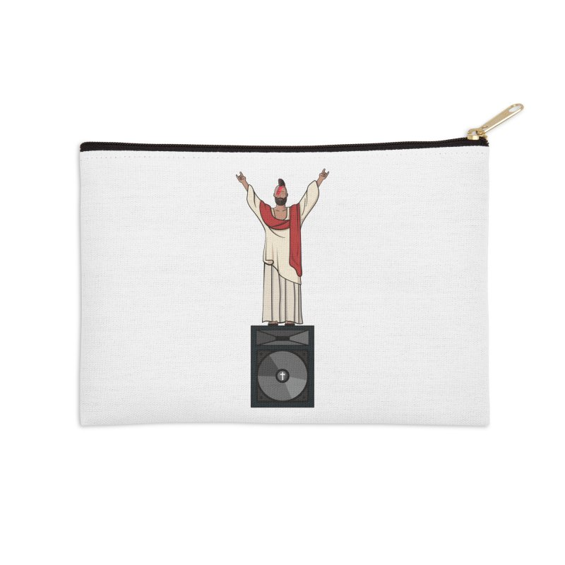 Raving Jeesus Accessories Zip Pouch by hristodonev's Artist Shop