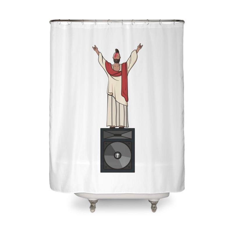 Raving Jeesus Home Shower Curtain by hristodonev's Artist Shop