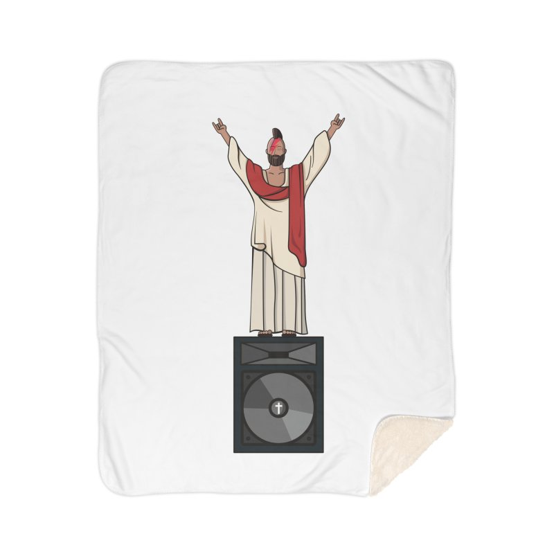 Raving Jeesus Home Sherpa Blanket Blanket by Hristo's Shop