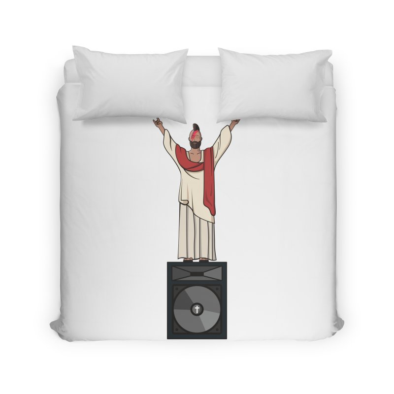 Raving Jeesus Home Duvet by hristodonev's Artist Shop