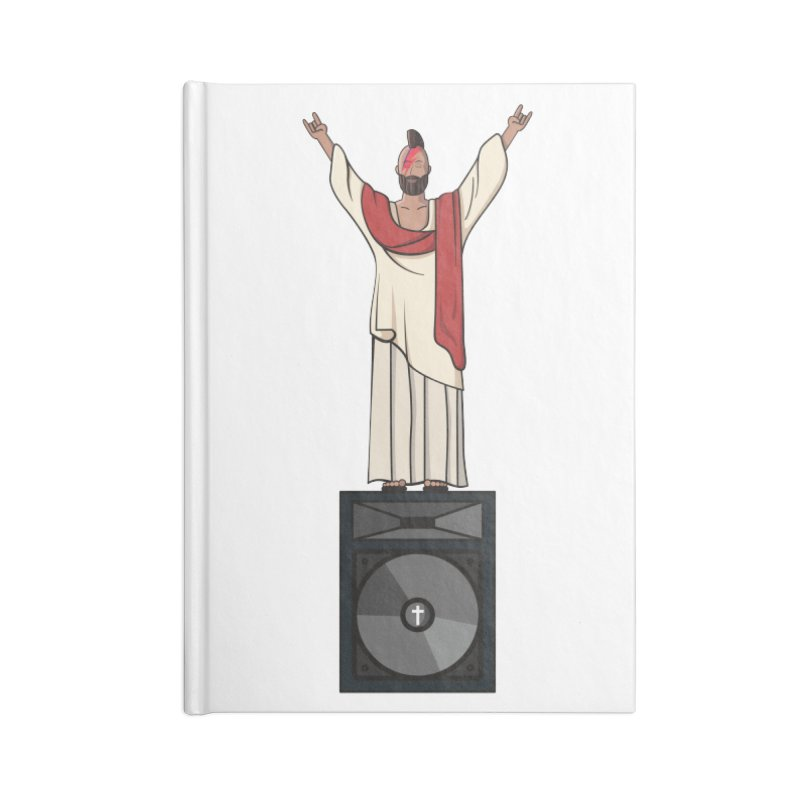 Raving Jeesus Accessories Blank Journal Notebook by Hristo's Shop