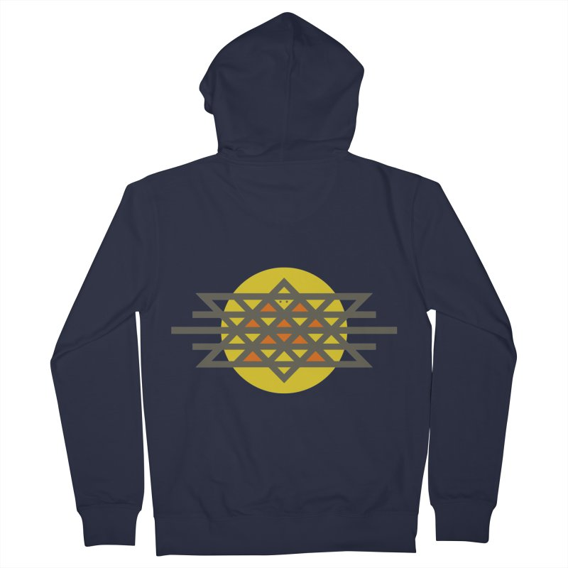 Sun Warrior Men's French Terry Zip-Up Hoody by Hristo's Shop