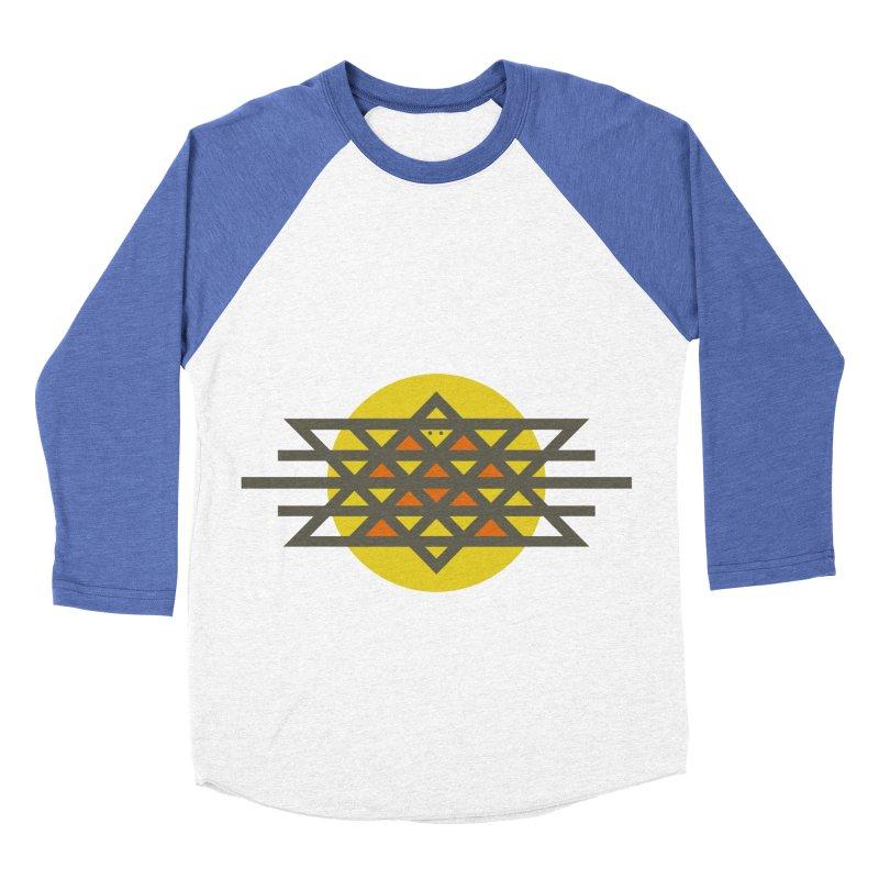 Sun Warrior Men's Baseball Triblend T-Shirt by hristodonev's Artist Shop