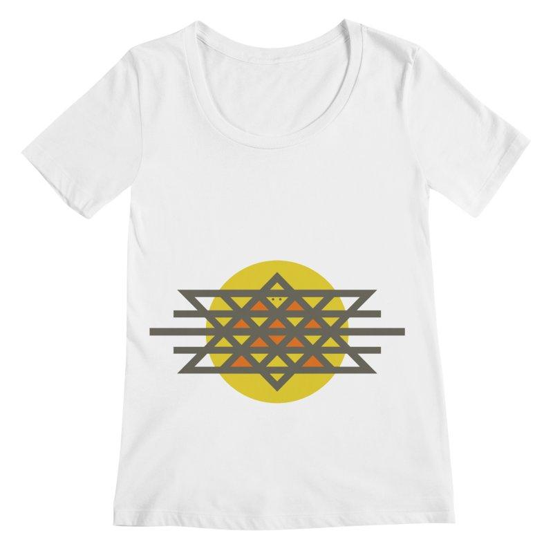Sun Warrior Women's Regular Scoop Neck by Hristo's Shop