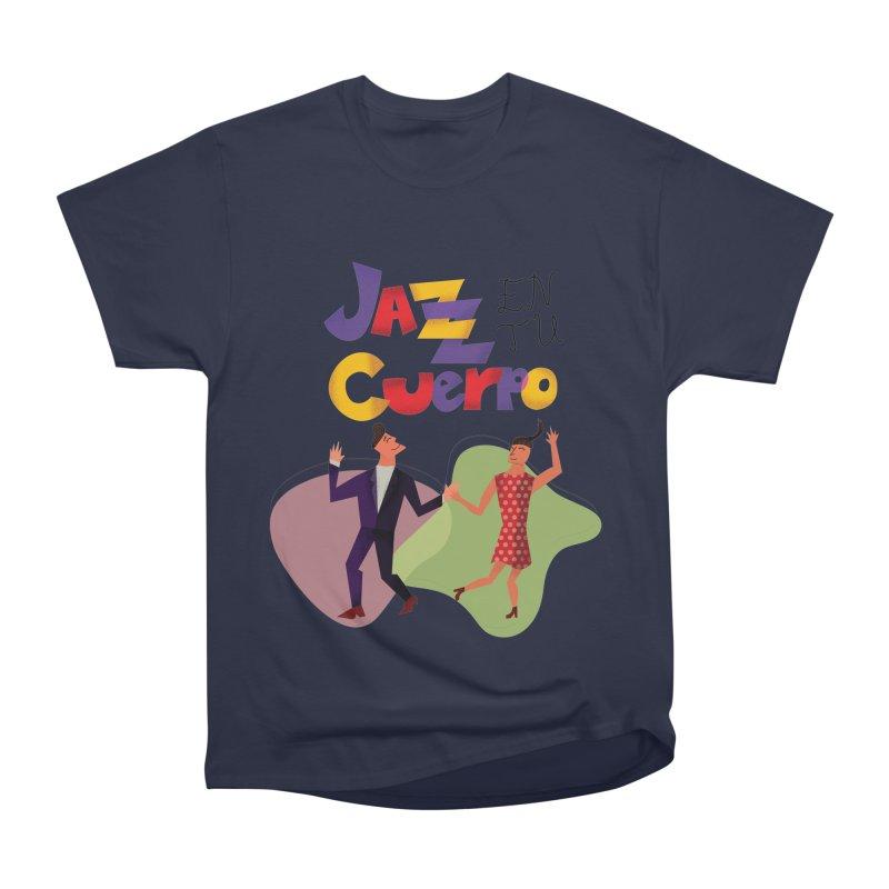 Jazz en tu cuerpo Men's Heavyweight T-Shirt by Hristo's Shop