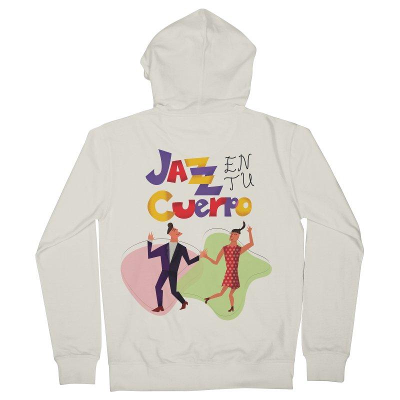 Jazz en tu cuerpo Women's French Terry Zip-Up Hoody by Hristo's Shop