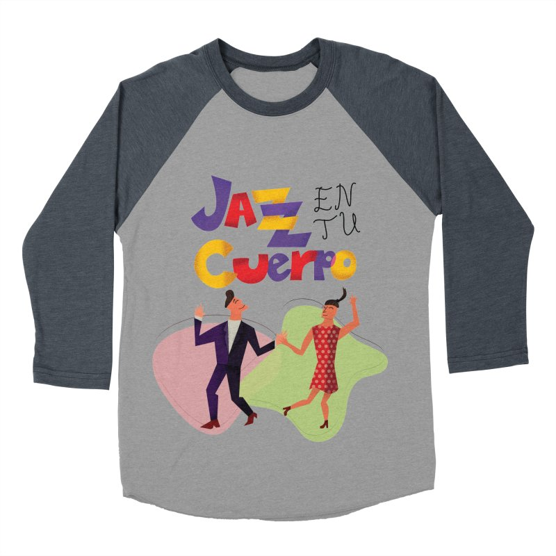 Jazz en tu cuerpo Men's Baseball Triblend Longsleeve T-Shirt by Hristo's Shop