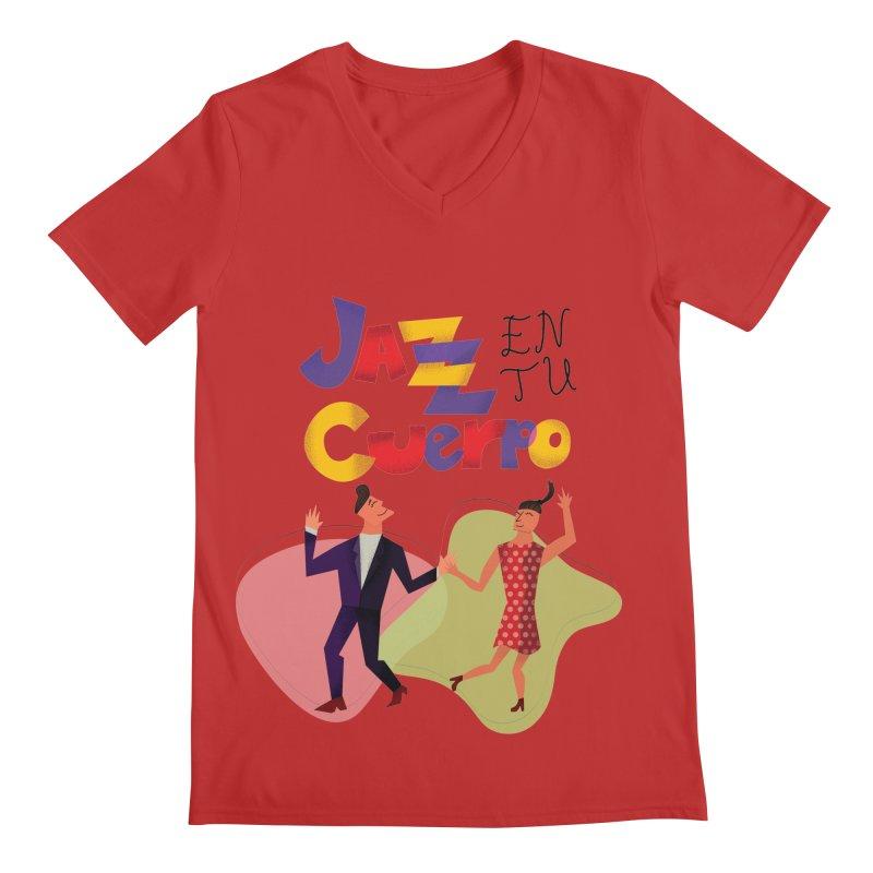 Jazz en tu cuerpo Men's V-Neck by Hristo's Shop