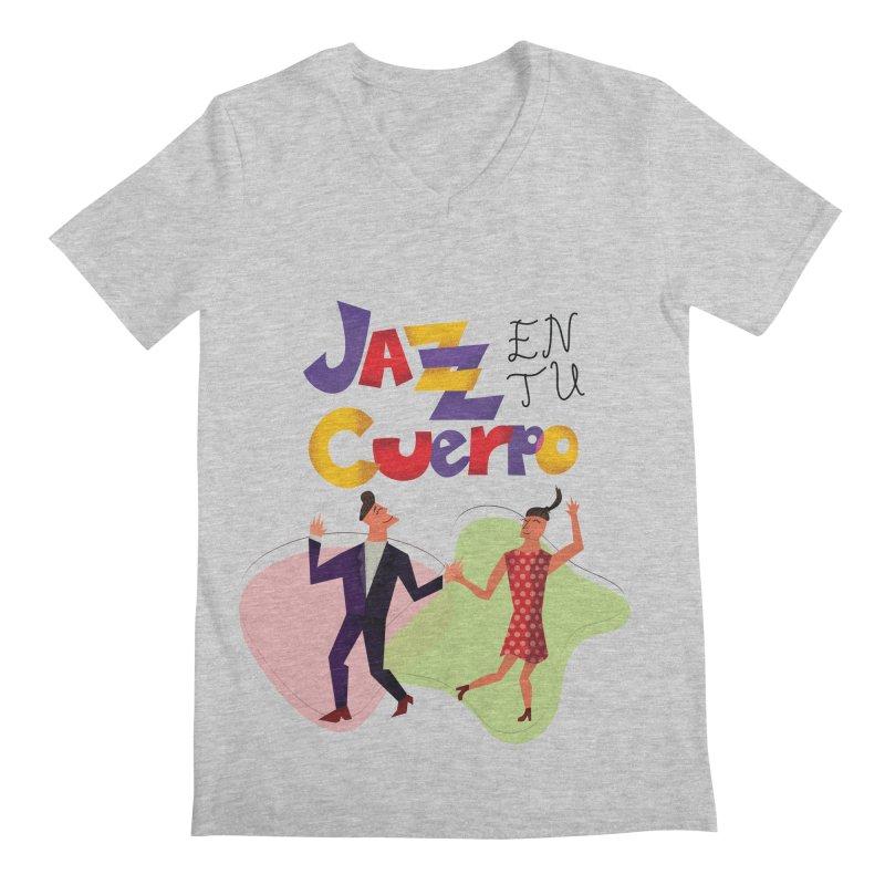 Jazz en tu cuerpo Men's Regular V-Neck by Hristo's Shop
