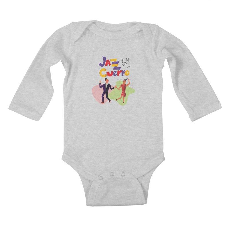 Jazz en tu cuerpo Kids Baby Longsleeve Bodysuit by hristodonev's Artist Shop
