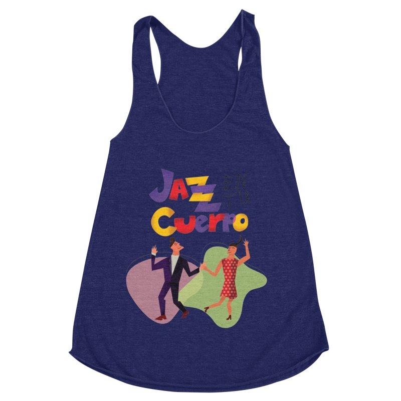 Jazz en tu cuerpo Women's Racerback Triblend Tank by Hristo's Shop
