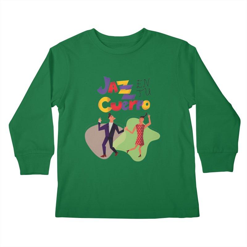 Jazz en tu cuerpo Kids Longsleeve T-Shirt by Hristo's Shop