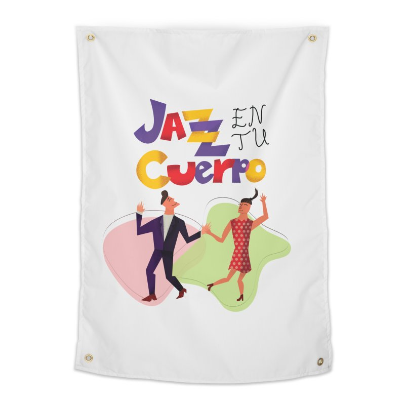 Jazz en tu cuerpo Home Tapestry by hristodonev's Artist Shop