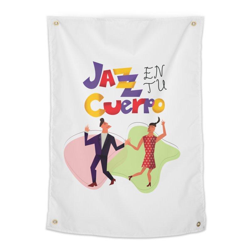 Jazz en tu cuerpo Home Tapestry by Hristo's Shop