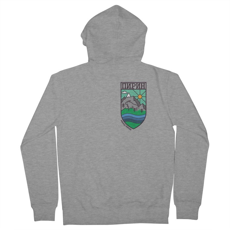 Pirin Men's French Terry Zip-Up Hoody by Hristo's Shop