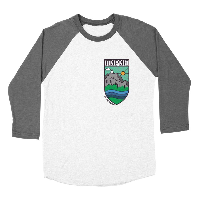 Pirin Men's Baseball Triblend Longsleeve T-Shirt by Hristo's Shop