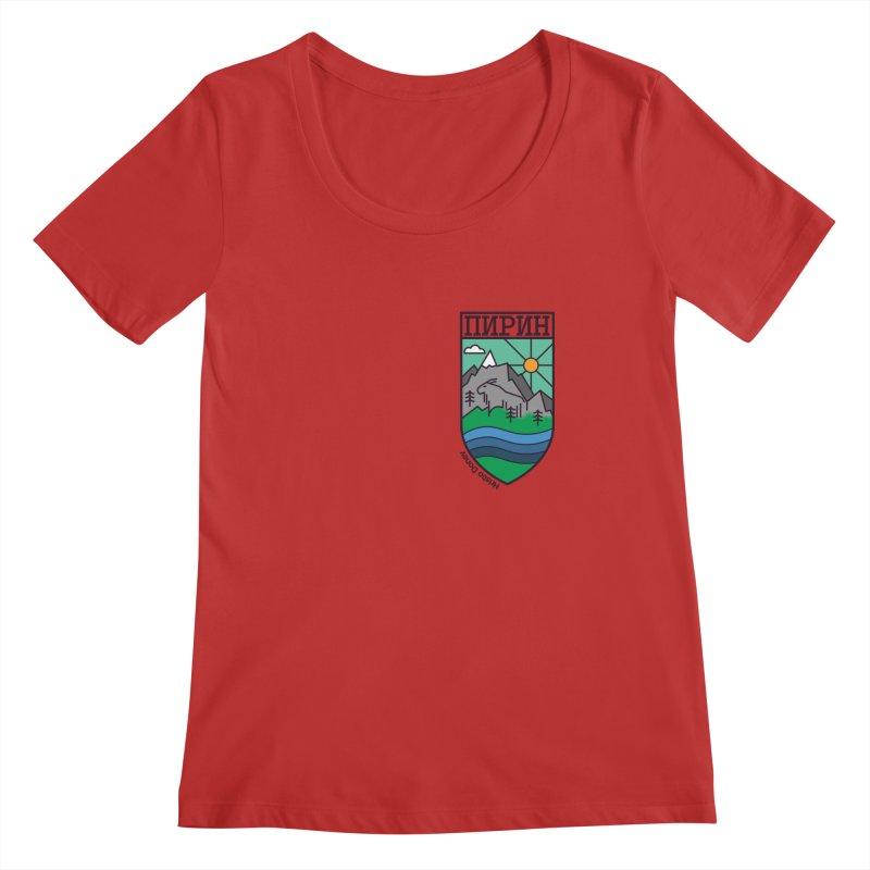 Pirin Women's Regular Scoop Neck by Hristo's Shop