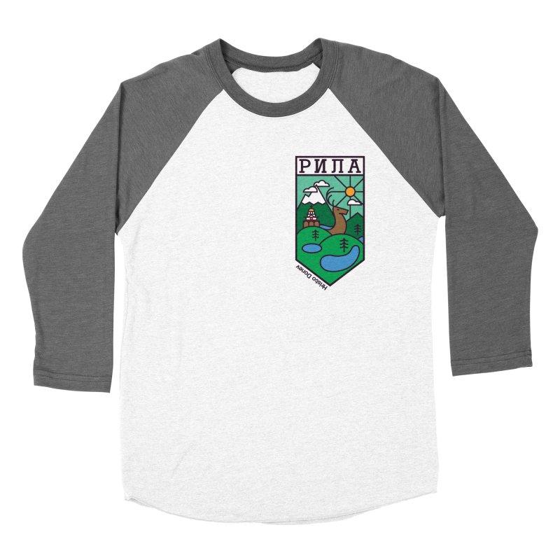 Rila Men's Baseball Triblend Longsleeve T-Shirt by Hristo's Shop